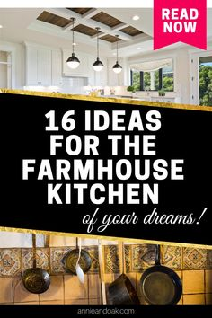 Explore Annie and Oak's 16 Ideas for the Farmhouse Kitchen of Your Dreams. Fuse your creative edge to our handpicked tips and inspirations to build the topmost farmhouse kitchen design that will definitely hype up your kitchen experience. Annie and Oak is your go-to farmhouse kitchen maven. So, roll up your sleeves and prepare to jot down some notes as we reveal the perfect ideas to up-tier your farmhouse kitchen. Start upgrading your farmhouse kitchen now with annieandoak.com.