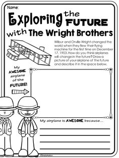 Wright Brothers, Exploring the Future with the Wright Brothers printable.