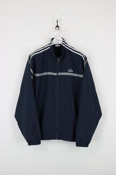 Adidas Shell Suit Jacket Navy Large