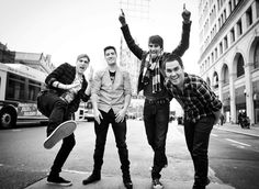 Kendall Schmidt, Logan Henderson, James Maslow and Carlos Pena.