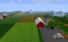 Minecraft farm. BUILDING IT!!!
