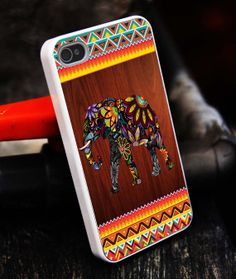 Elephant case Tribal Color Phone iPhone 5S by tigerredcase on Etsy, $14.97