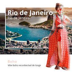 A vibe de praia do Rio de Janeiro combina totalmente com looks boho.