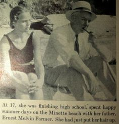 Frances Farmer (age 17) and father Ernest.