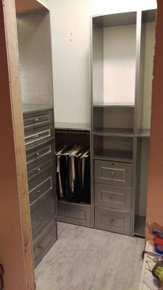 Small closet makeover.
