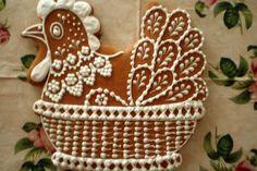 Jak upéct velikonoční perníčky | recept Cookie Designs, Gingerbread Cookies, Art Pieces, Food And Drink, Easter, Baking, Cakepops, Gardening, Wafer Cookies