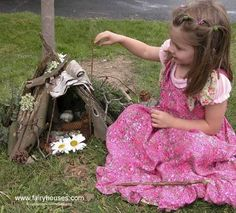 Used to do this all the time as a kid, make fairy houses out of grass, twigs, flowers..