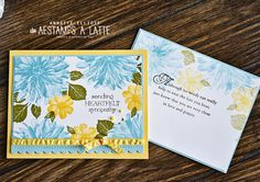 Cute Cards, Diy Cards, Handmade Cards, Youre A Peach, Easel Cards, Punch Art, Sympathy Cards, Stamping Up, Flower Cards