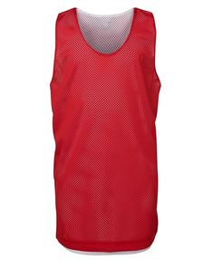PODIUM KIDS BASKETBALL SINGLET RED/WHITE 6 - 2XL Basketball Singlets, Hard Wear, How To Wear, How To Make, Sport Wear, Mesh Fabric, Red And White, Athletic Tank Tops, Exercises