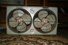 Industrial GE double window fan. $110 OBO