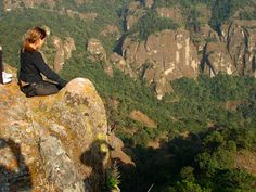 Tepozteco Mountain, one of our guest meditating at the top!