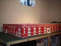 Somebody had a lot of bricks. Red Bricks, Retro Toys, Wine Rack, Plastic, History, American, Vintage, Home Decor, Facades