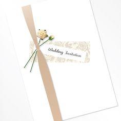 Rosy Folded Invitation