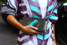 coordinating the clutch with your outfit