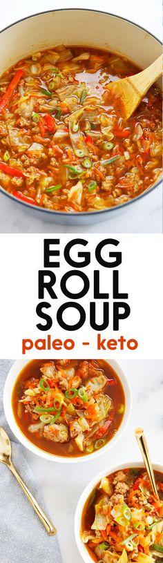 Lexi's Clean Kitchen | Egg Roll Soup
