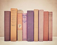 Add a touch of #RadiantOrchid to your space with a simple photograph of purple books!