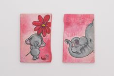 Nursery Décor, Baby Girl Nursery Decor, Room Baby, Elephant Nursery, Baby Room Decor, Baby Elephant, Hand Painting Art, Painting On Wood, Romantic Animals