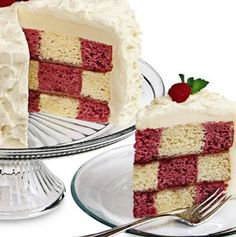 Red & Yellow Checkerboard Cake