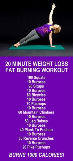 20 Minutes Weight Loss Fat Burning Workout. Learn about Zija's potent Moringa based product line and lose weight and burn fat like never before! Get our FREE eBook with suggested fitness plan, food di (Wod Workouts)