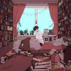 Aesthetic Anime, Aesthetic Art, Art Sketches, Art Drawings, Character Art, Character Design, Fanarts Anime, Anime Scenery, Bedroom Art