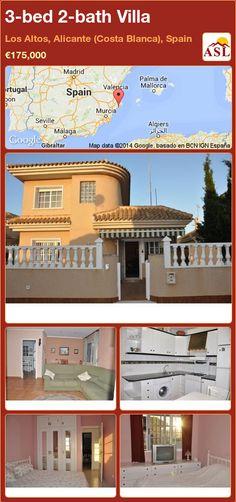 3-bed 2-bath Villa in Los Altos, Alicante (Costa Blanca), Spain ►€175,000 #PropertyForSaleInSpain