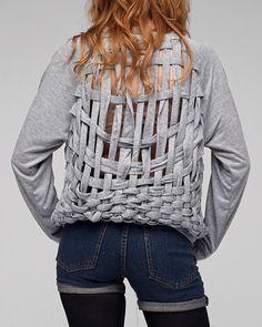 'Basketcase' sweatshirt by Mink Pink - DIY inspo