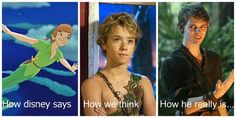 disney, once upon a time, and peter pan image
