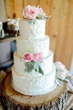 a wedding cake that's almost too pretty to eat!! {photo by Kimberly Florence}