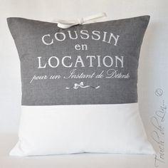 HOUSSE DE COUSSIN en lin « coussin en location » : Textiles et tapis par touch-de-lin