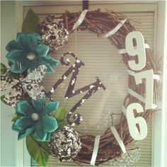 Summer door wreath. DIY.- Love.
