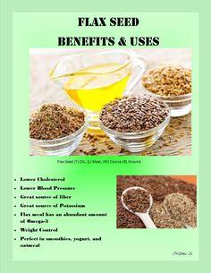 Flax Seed Benefits & Uses