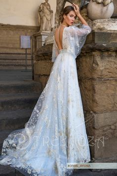 AYUNA wedding dress by STREKKOZA Couture at Charmé Gaby Bridal Gown boutique Clearwater FL