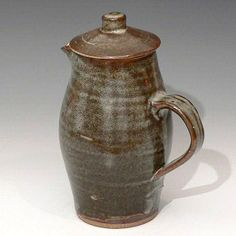 A Leach Pottery Standard Ware coffee pot.  Ceramike - British Studio Pottery - Reference Collection