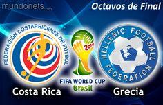 Costa Rica vs Grecia - Domingo 29 de Junio de 2014