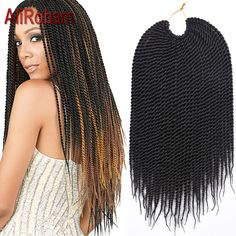 Cheap Crochet Braid Hair Extension 14'' 60g Synthetic Box Braiding Hair Crotchet Braids Havana Mambo Crochet Senegalese Twist ** View the item in details by clicking the image