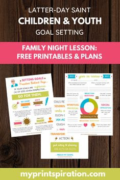 Printspiration: children and youth goal setting helps Primary Activities, Activities For Girls, Group Activities, Indoor Activities, Summer Activities, Physical Activities, Activity Day Girls, Activity Days, Goals Printable