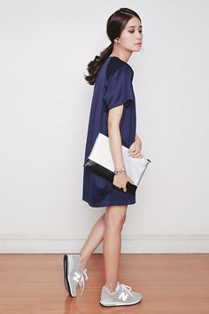 Tricia Gosingtian - Young Hungry Free Dress, New Balance Sneakers, Sm Accessories Clutch - 111314
