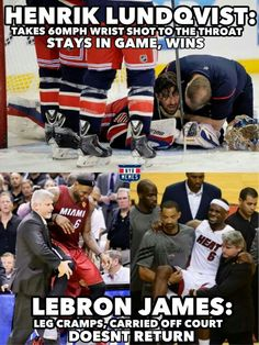 Hockey players are tough :)