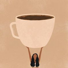 Coffee Illustration, Illustration Art Drawing, Art Drawings, Illustrations, I Love Coffee, Coffee Art, Digital Drawing, Doodle Drawing, Diy Canvas Art