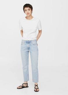I've put a hold on buying designer denim and have been wearing affordable jeans instead. Find out why. Women's Straight Jeans, Who What Wear, Mom Jeans, Fashion Beauty, Normcore, Vintage Fashion, Legs, Denim, How To Wear