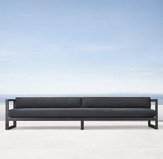 """123"""" Aegean Aluminum Sofa Cushions"""