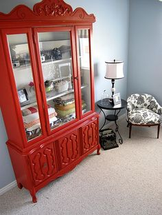 Glass Door Red Cabinet at Big Lots. I WANT THIS :0) | Kimbery M ...