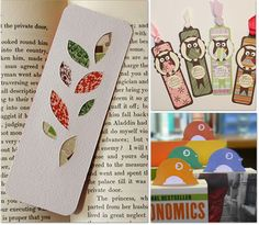 The BEST Homemade Bookmark Tutorials - printables, for kids or adults, to color, from material, etc, etc, etc - all kinds of link to cool bookmarks!!!