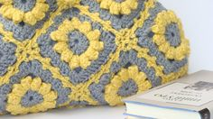 Lemon zest crochet handbag flowers bag shoulder bag by zolayka