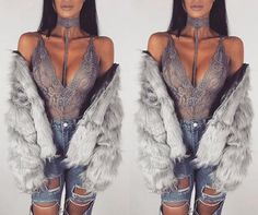 Lace Choker Bodysuit - Absolute perfection. These choker bodysuits are to die for. Free international shipping!