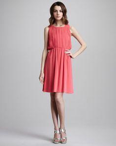 Meryl Pleated Dress by Alice + Olivia at Neiman Marcus.