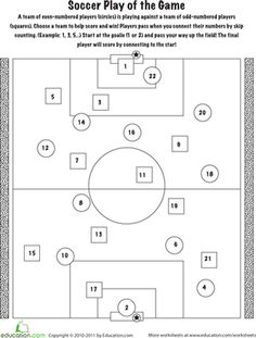 math worksheet : soccer kenken® puzzle  worksheets puzzles and multiplication  : Football Math Worksheets