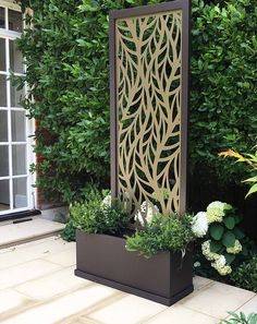 Miles and Lincoln - the UK's leading designer of laser cut screens for architecture and interiors, laser cut panels, balustrades and suspended ceilings Garden Privacy Screen, Privacy Fence Designs, Backyard Privacy, Metal Garden Screens, Outdoor Screen Panels, Roof Panels, Fence Panels, Laser Cut Screens, Laser Cut Panels