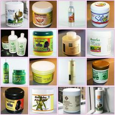 Dominican hair-care products and other hair products that Dominican women use.