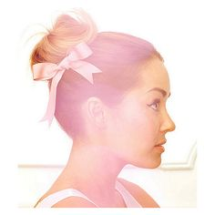 Lauren Conrad's signature 'Ballerina Bun' video... ❤ liked on Polyvore